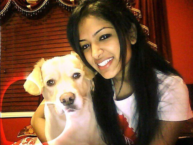 pretty girl with dog