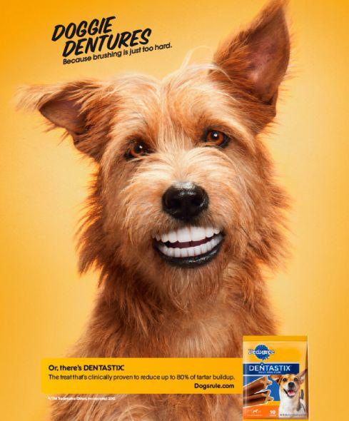 Pedigree Doggie Dentures ad