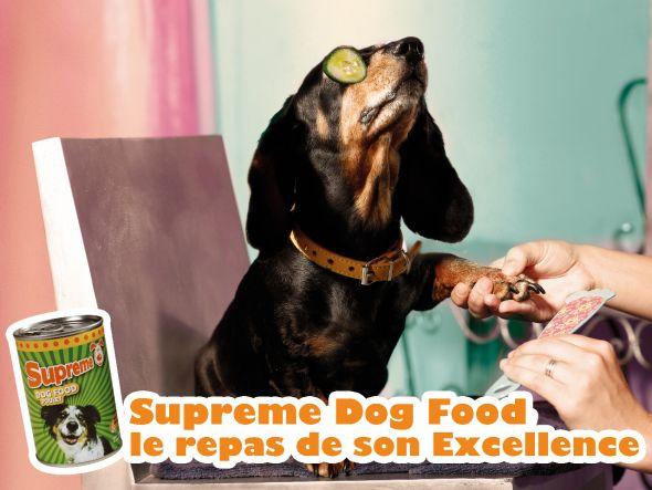 Supreme Dog Food ad