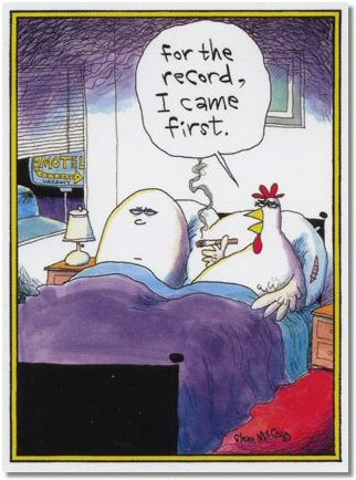 Which came first egg or the chicken?