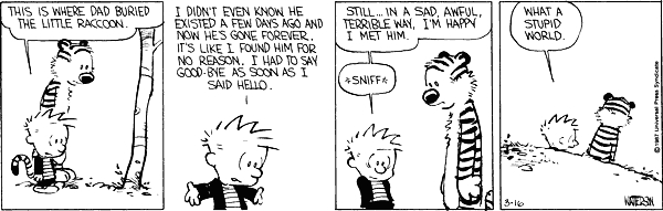 calvin and hobbes quotes on world