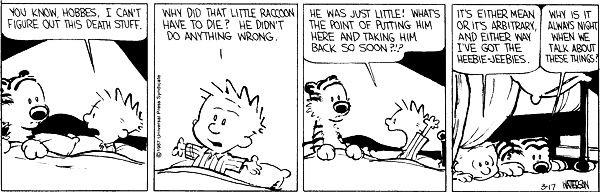 calvin and hobbes death quote