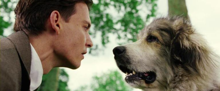 Johnny Depp dog finding neverland