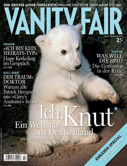 Polar bear on the cover of German Vanity fair