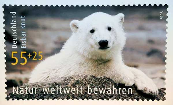 Knut polar bear stamp