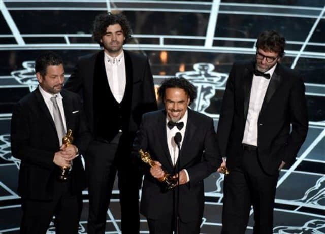 Birdman writer thanks larry dog on winning oscar best screenplay