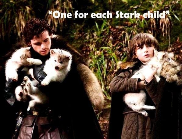 Game of Thrones Direwolves