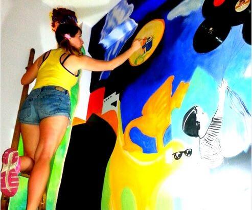 Mural artist Hanoi