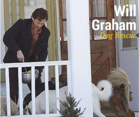 Will Graham feeding dogs