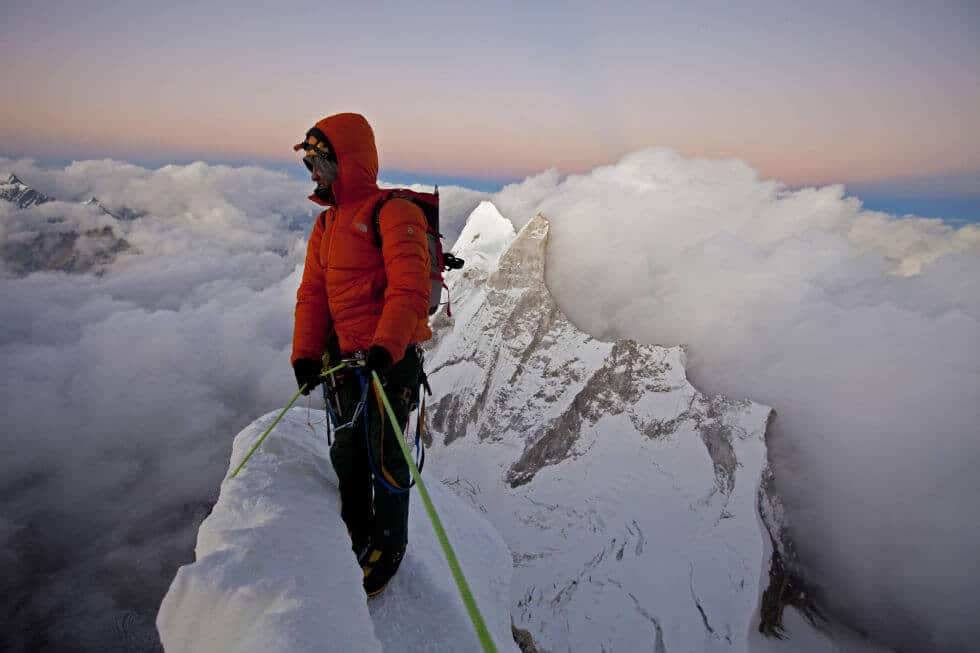 first in the world to climb Meru