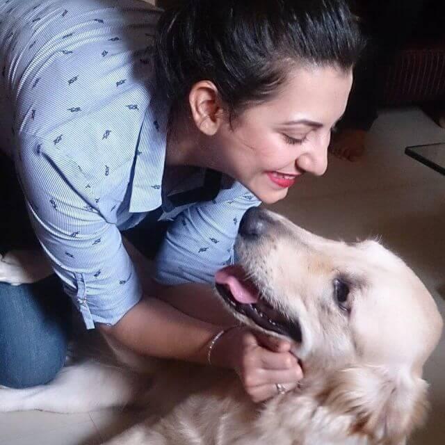 Devika Raizada dog lover