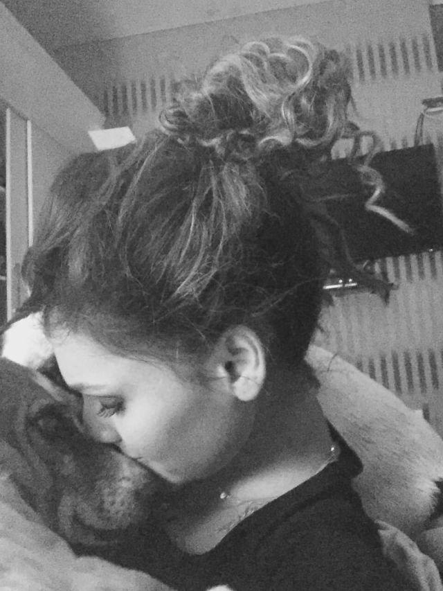 Riya Bamniyal dog lover