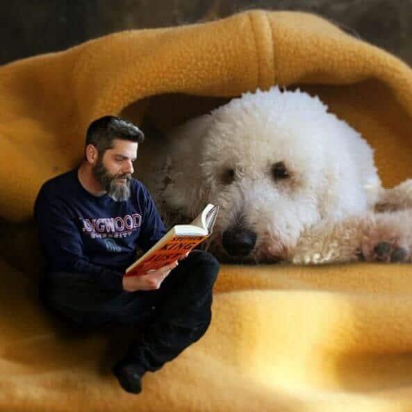 dog reading story