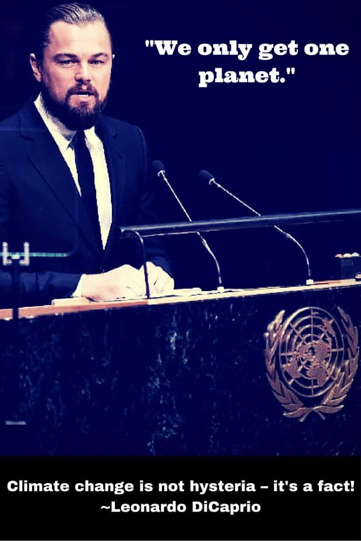 Leonardo DiCaprio UN speech