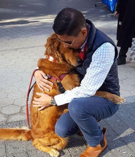 dog hug valentine day