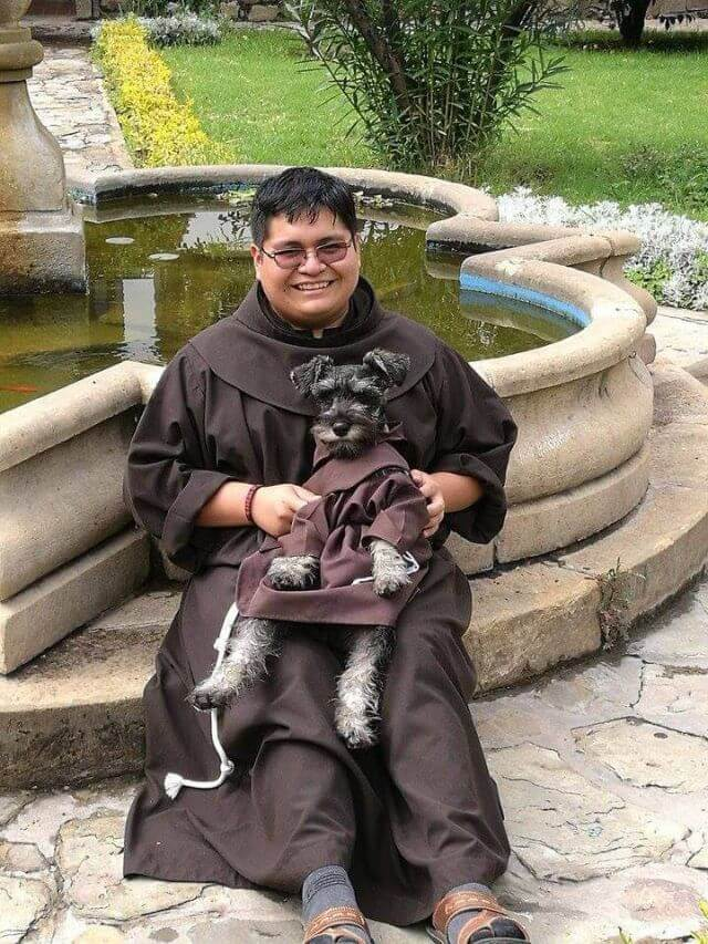 Dog adopted by Monastery