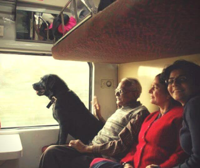 travel with dog Indian railway