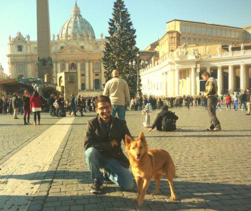 vatican city dog