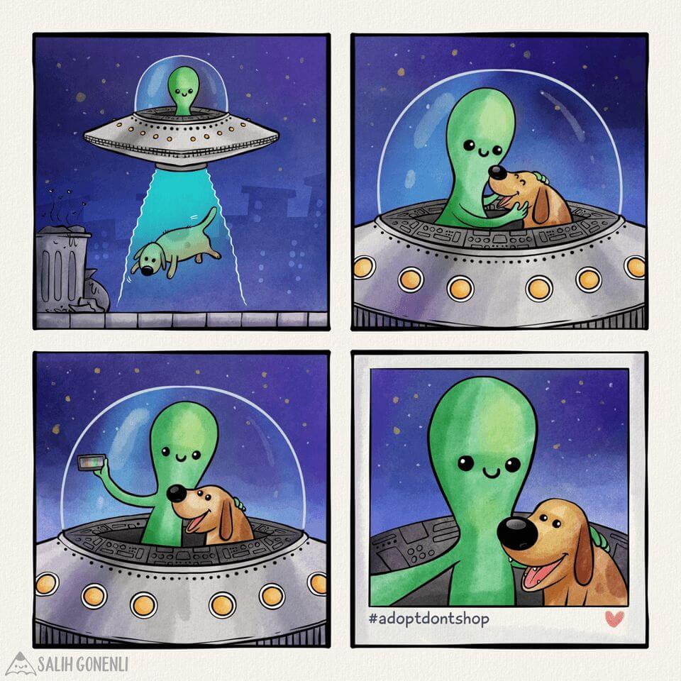 dog alien cartoon