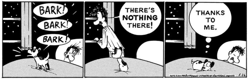 why dog barks at night cartoon