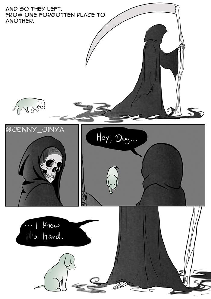 cartoon about death dog