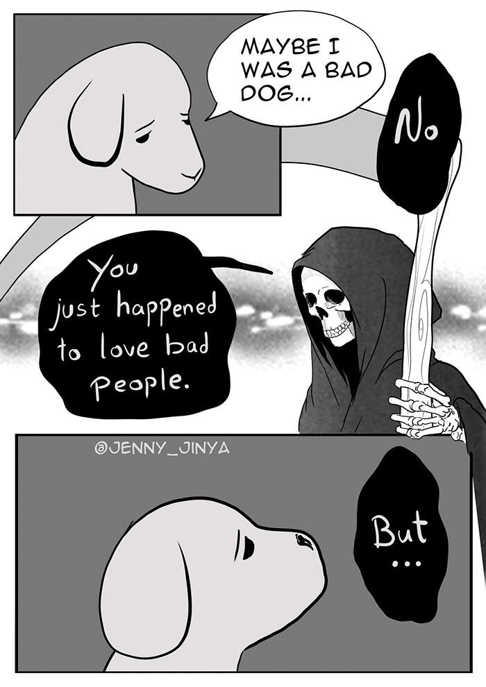 dog death cartoon