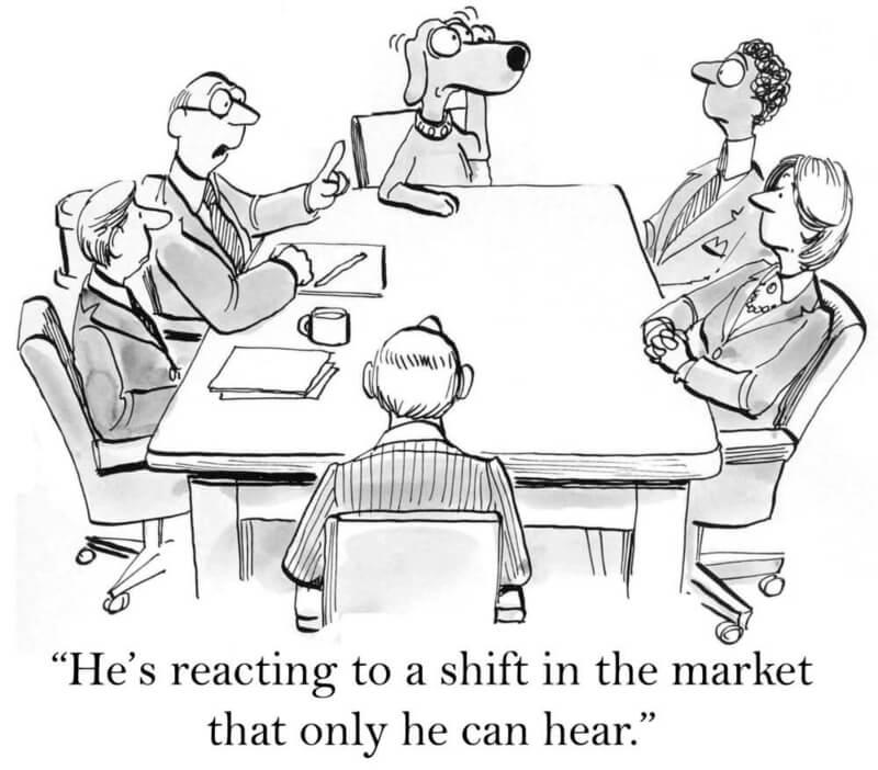 dog in office cartoon