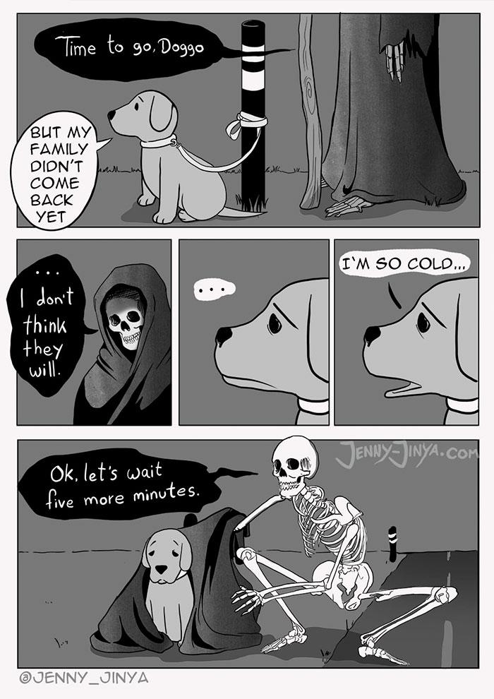 comic dog death