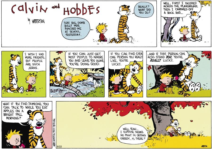 Calvin and hobbes bullies