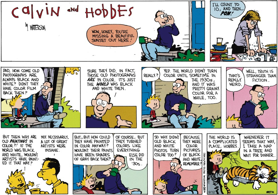 Calvin and Hobbes old photographs